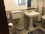 Edwardian style Burlington large sink and traditional flush WC