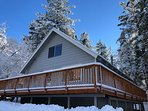'Colusa Pines Cabin' after a Fresh Snow Fall!!!