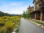 Convenient activity trail behind Trailhead Lodges