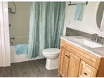 Newly renovated bathroom, with luxurious infloor heating