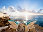 Beauty surrounds you on the lower sundeck bringing the sights and sounds of the ocean even closer.