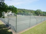 Tennis courts for guests.
