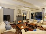 Relax by the fireplace in the night and gather around for some snacks served by out in-house cook