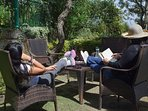 Sit-out in the garden and enjoy the sunlight while catching up on some reading