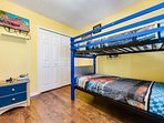 Kids bedroom #3 with two twin bunk beds