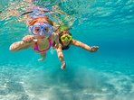Snorkelling for the children