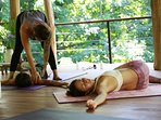 Private yoga at the treehouses shala