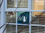 Hand-made penguin mosaic.