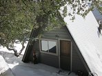 Snow (Jan-April) at Pine Rock Retreat, a private cozy private cabin with Amazing Views!