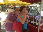 Wine tasting at the local markets