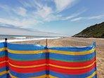 Sunbathing on Cromer beach