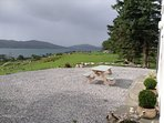 The weather changes fast here at Hillside Cottage, a shower rolling in from the sea