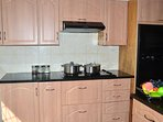 Kitchen.Fully equipped with microwave,toaster, fryer,gas stove,electric hob and double oven and more
