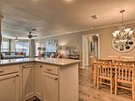 The open floor plan allows the home to feel spacious.