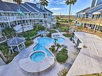 Enjoy the perks of a community pool and hot tub.