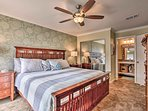 Enjoy a restful night on the king-sized bed.