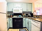Beautifully updated kitchen fully stocked!
