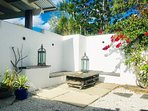 Private sunny courtyard