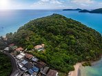 The Glasshouse Phuket is private & secluded yet a few minutes walk to 2 beaches and local amenities.