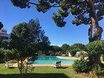 Beautiful walk-in communal pool set in lovely gardens.