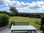 The Patio off Sitting Room 1 with stunning views over the Cheviot Hills