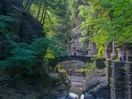 Robert Treman State Park, only 1 1/2 miles from the cottage.
