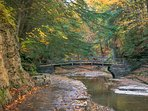 Buttermilk Falls State Park, only 5 miles from the cottage.