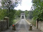 The Union Chain Bridge over the River Tweed at the Chain Bridge Honey Farm, Berwickshire