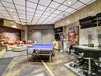 The Rec Room:  with TV, XM , Nintendo, Ping Pong, Fitness Equipped, Bumper Pool.