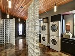 Our ski-entry hall has 2 washers & 2 dryers.