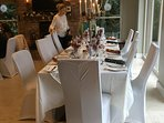 Dining  table at Christmas Dinner