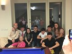 My kids and cousins at the games room