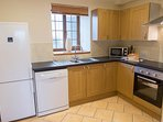 Well-appointed separate kitchen