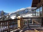 Vue hivernale depuis balcon