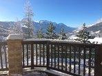 Vue hivernale depuis la terrasse.