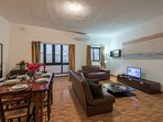 Spacious Living-Dining room with Internet WiFi, IPTV with hundreds of channels in different language