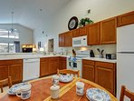 Large fully-equipped kitchen with breakfast nook.