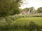 View of Greencroft across the cricket & football pitches.