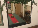 The Dining room at Christmas. The house is available every other Christmas and every New Years Eve