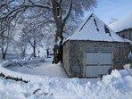 En hiver Le Buron d'Air aubrac