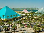 Take a day trip to Galveston and enjoy all that Moody Gardens has to offer.