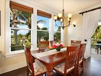 Dine in style surrounded by tropical gardens