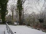 A snowy driveway!