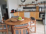 La cuisine aménagée