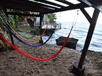 Our small Cove Beach has a hammock stand!