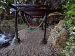 Hammock Stand with direct seaview