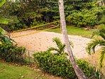 Public volleyball court next door.