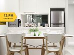 A fully decked & equipped kitchen &