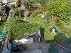 The back garden, for guest use, leads to our car park off Quay Lane.