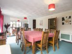 Enjoy entertaining in the large double dining area